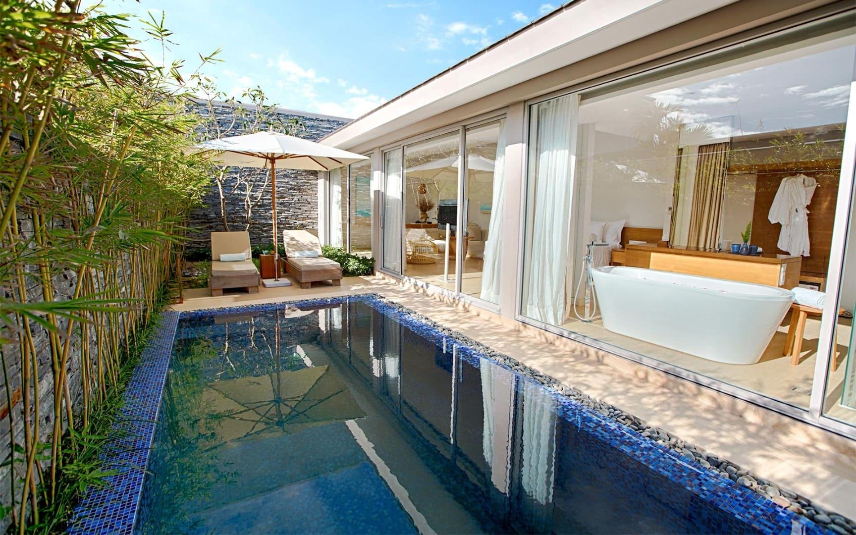 Hồ bơi bên trong mỗi căn biệt thự của Naman Đà Nẵng