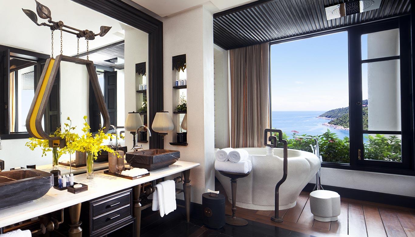 Phòng tắm sang trọng và đẳng cấp của Sơn Trà Room