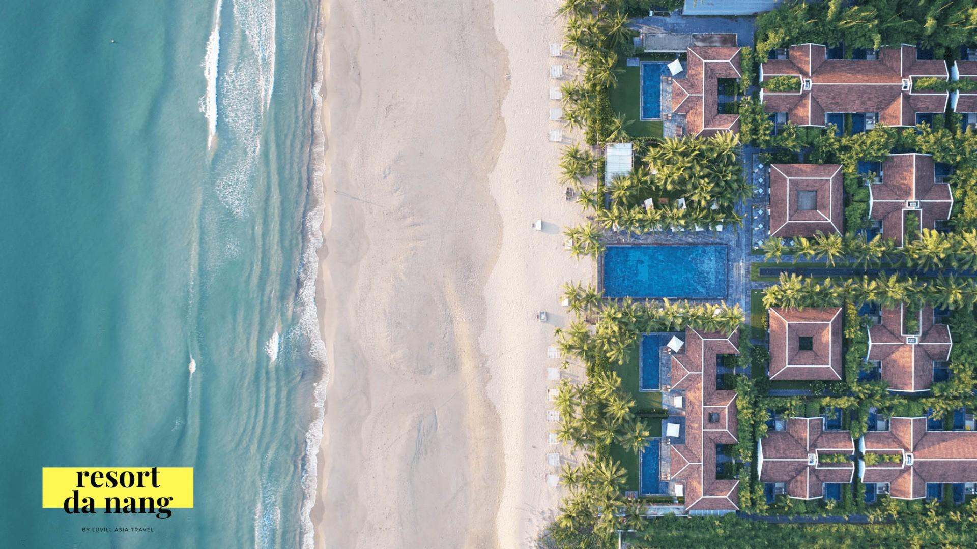 Hình ảnh nhìn từ trên cao của fusion maia resort đà nẵng