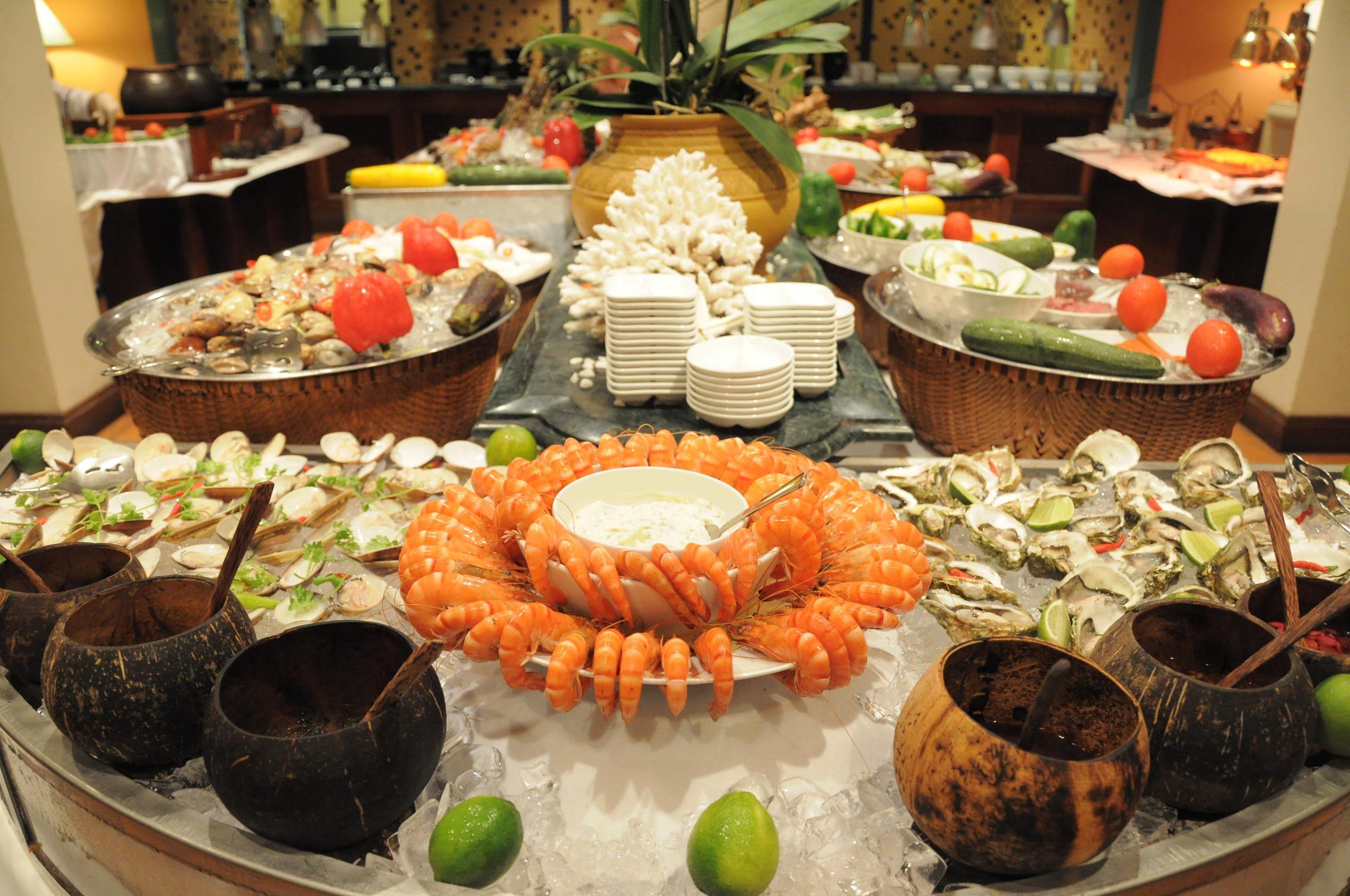 Buffet hải sản tươi sống tại cafe indochine furama đà nẵng