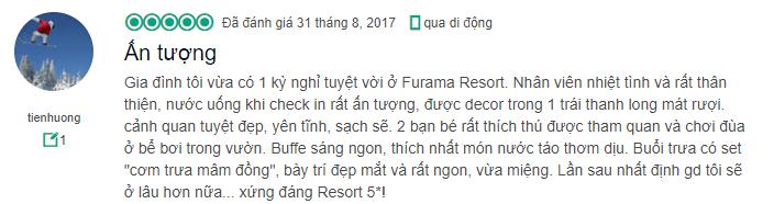 Sự chi tiết qua đánh giá của tienhuong về furama