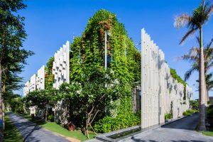 Thiết kế bao phủ cây xanh của Khu nghĩ dưỡng Naman Retreat