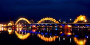 Cầu Rồng Đà Nẵng về đêm