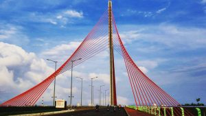 Kiến trúc dây văng độc đáo của cầu Trần Thị Lý