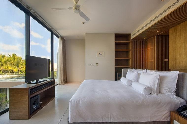Phòng ngủ đầy đủ tiện nghi của biệt thự 3 phòng ngủ Naman Đà Nẵng