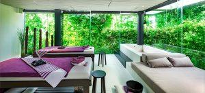 Ấn tượng với thiết kế tại Pure Spa với cây xanh bao phủ và các chương trình chăm sóc sức khỏe
