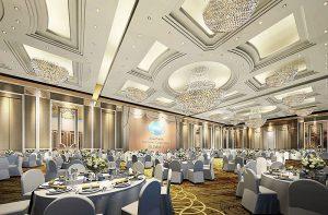 Phòng Ballrooms sang trọng phục vụ cho những buổi họp, hội nghị quốc tế