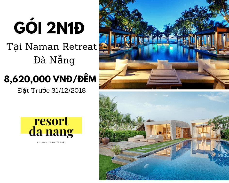 Ưu đãi tại Resort Naman Retreat Đà Nẵng
