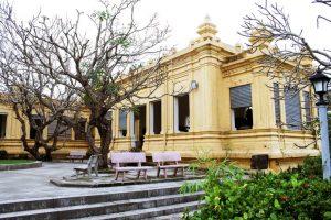 Nét kiến trúc Chăm pa xưa tại thiết kế bên ngoài tại bảo tàng nghệ thuật điêu khắc Chăm pa Đà Nẵng