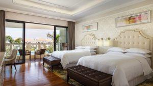 Nghỉ dưỡng trong không gian sang trọng, ấm cúng với phòng Deluxe Bay View tại resort Sheraton Đà Nẵng