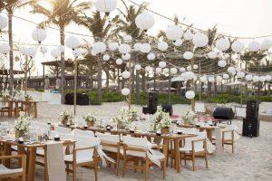 Không gian tổ chức tiệc cưới cực kì lãng mạn dành cho các cặp đôi tại Naman Retreat Đà Nẵng
