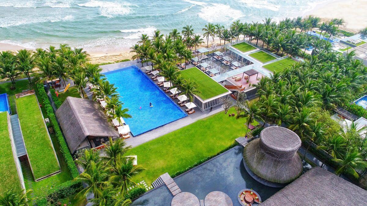 Nhìn từ trên cao tuyệt đẹp của Naman Retreat Đà Nẵng