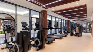 Phòng tập Gym với đầy đủ trang thiết bị hiện đại của Sheraton Đà Nẵng