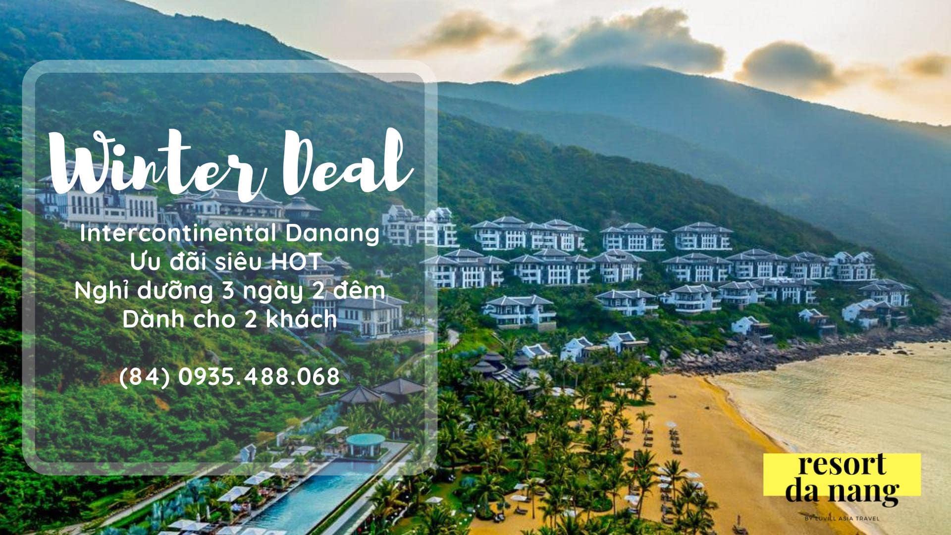 Intercontinental Đà Nẵng là một trong những resort đẳng cấp bậc nhất tại Đà Nẵng