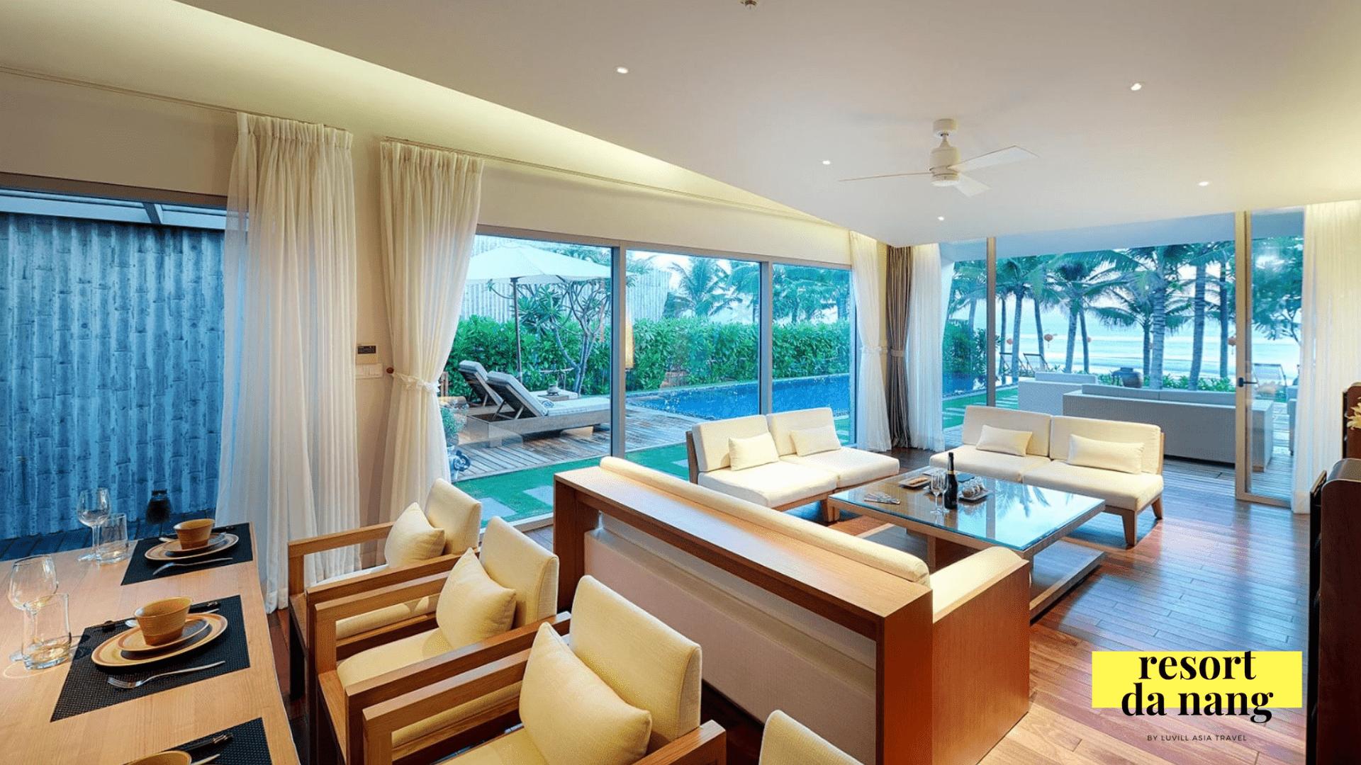 Phong cách sang trọng bên trong các căn biệt thự resort Naman Retreat Đà Nẵng