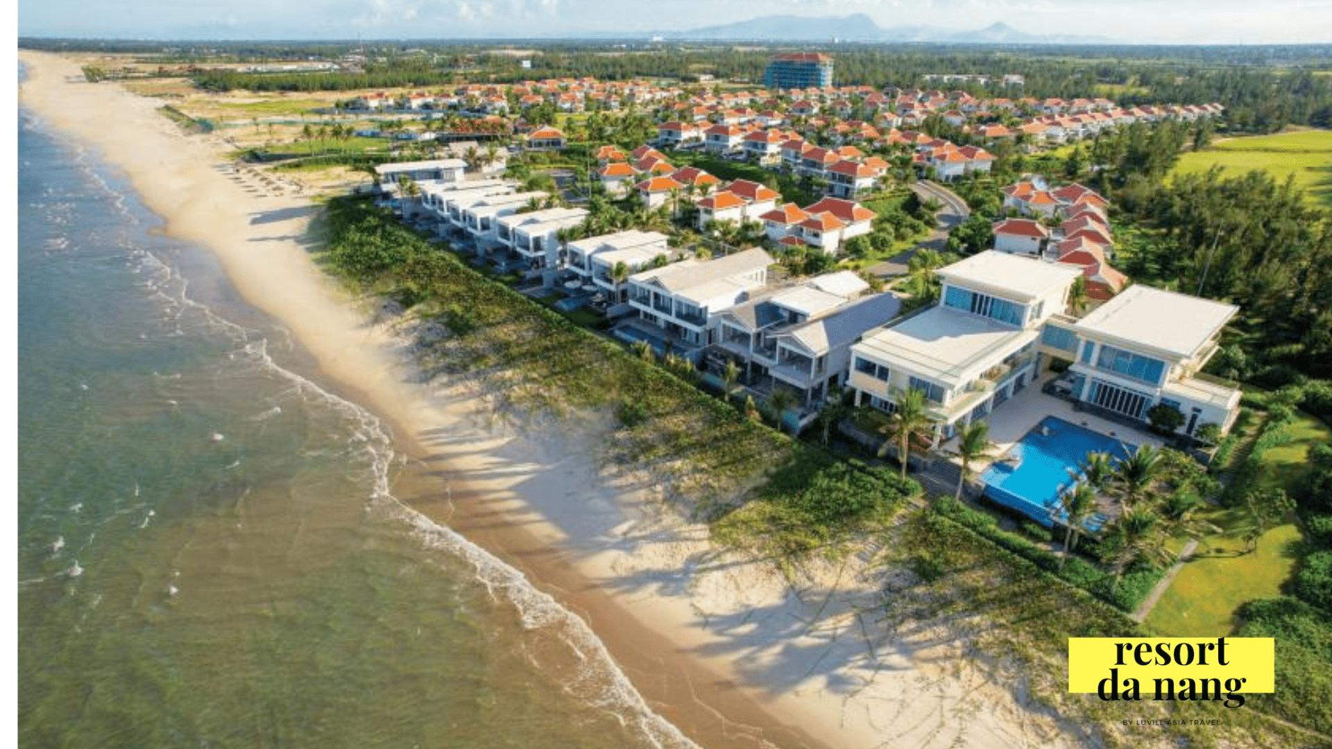 Nhìn từ trên cao The Ocean Villa Đà Nẵng nỗi bật