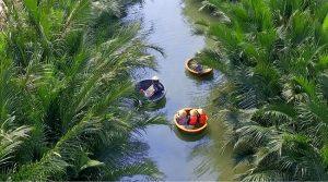 Khám phá rừng dừa sông nước bằng thuyền thúng tại Rừng dừa 7 mẫu Hội An