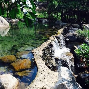 Thoải mái hòa mình vào dòng suối trong xanh, mát mẻ tại suối Lương