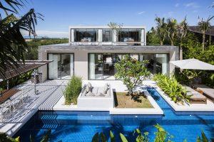 Thiết kế sang trọng của căn phòng xen kẽ thiên nhiên tại Villa B Naman Đà Nẵng