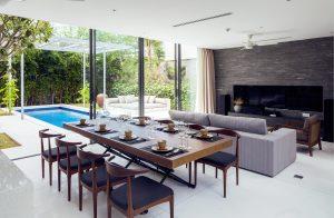 Thiết kế căn phòng với những gam màu tự nhiên, tối giản tại biệt thự Villa D tại Naman Đà Nẵng