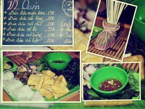 Không gian nhỏ nhắn, xinh xắn của quán Bún đậu mắm tôm Vl Quán ở Đà Nẵng