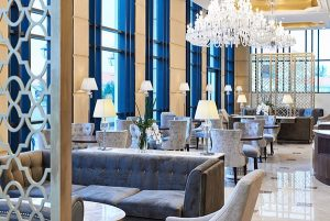 Không gian yên tĩnh và sang trọng của nhà hàng Tea Lounge Sheraton Đà Nẵng