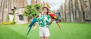 Hoa hậu Đỗ Mỹ Linh tham quan Vinpearl Land