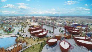 12 con tàu khổng lồ nhìn từ trên cao đầy ấn tượng